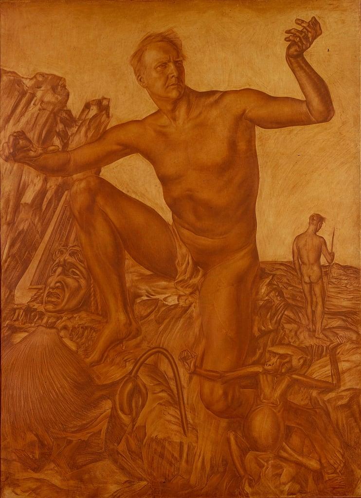Александр Яковлев / «Портрет певца Федора Шаляпина» / 1917