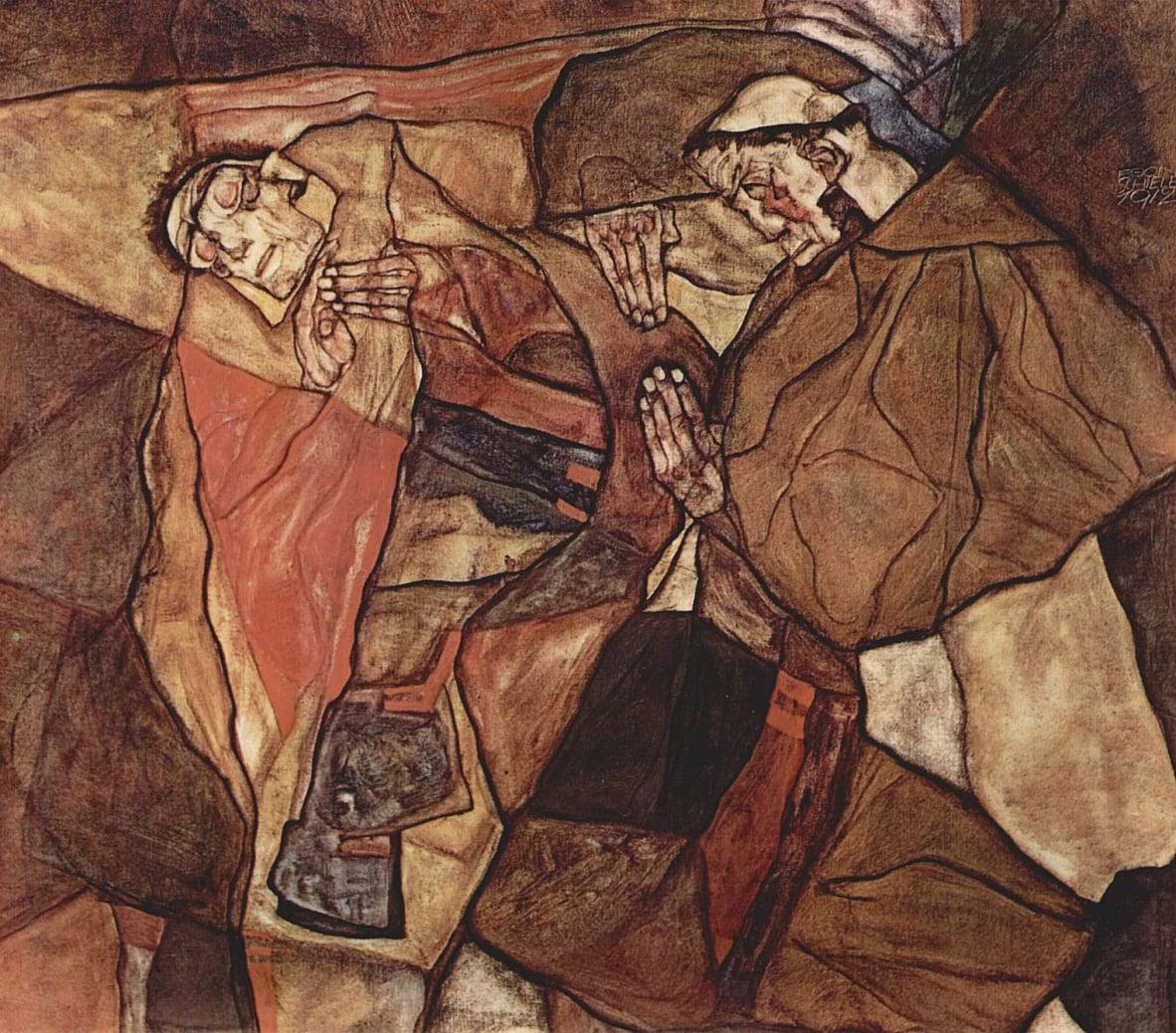 Эгон Шиле / «Агония (Борьба со смертью)» / 1912