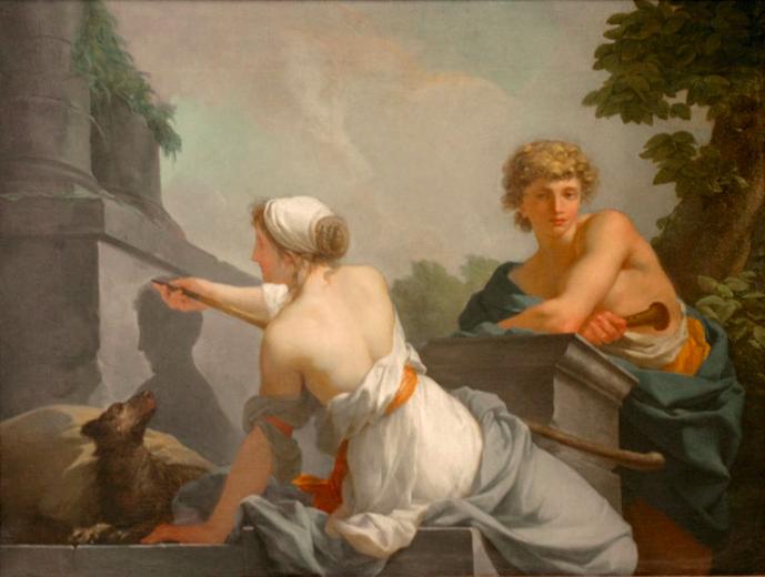Жан-Батист Реньо / «Изобретение живописи» / 1785