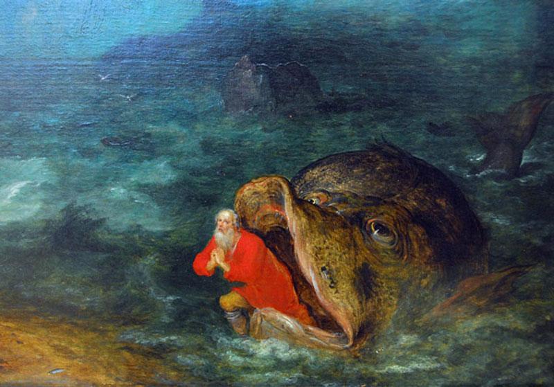 Ян Брейгель Старший / «Иона выходит из пасти кита», фрагмент / 1598