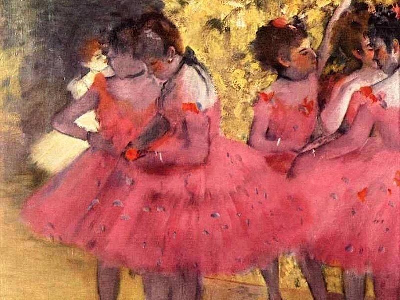Эдгар Дега / «Танцовщицы в розовом» / 1885