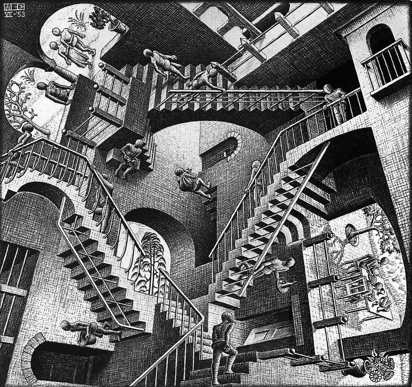 Мауриц Корнелис Эшер / «Относительность» / 1953