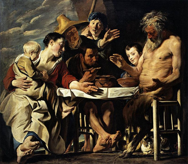 Якоб Йорданс / «Сатир в гостях у крестьянина» / 1620