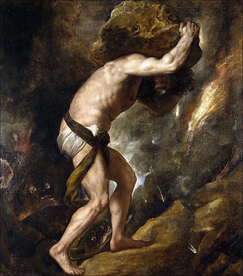 Тициан / «Наказание Сизифа» / 1549