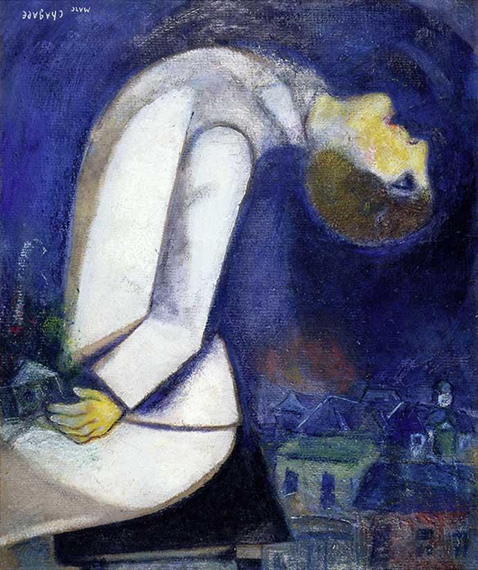 художник Марк ШАГАЛ (1887-1985) / «Человек с запрокинутой головой»