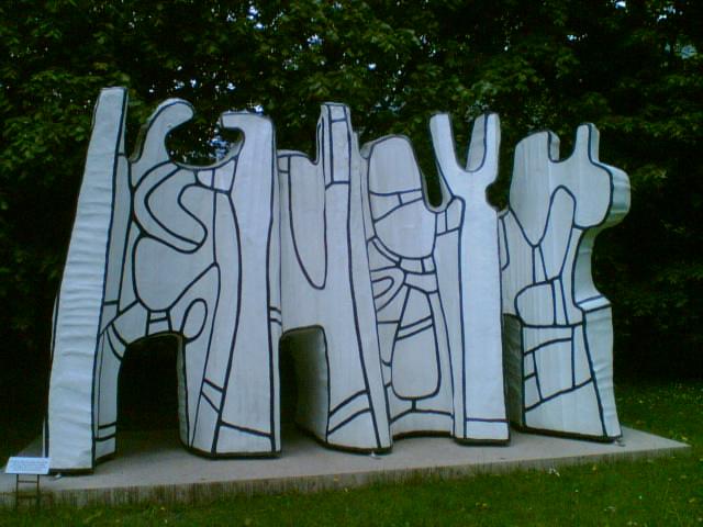 художник / скульптор Жан ДЮБЮФФЕ (1901-1985) / «Contoursionistes V»