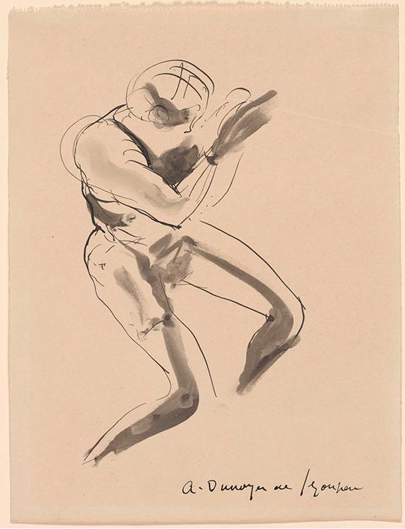 художник Андре де СЕГОНЗАК (1884-1974) / «Этюд обнаженной»