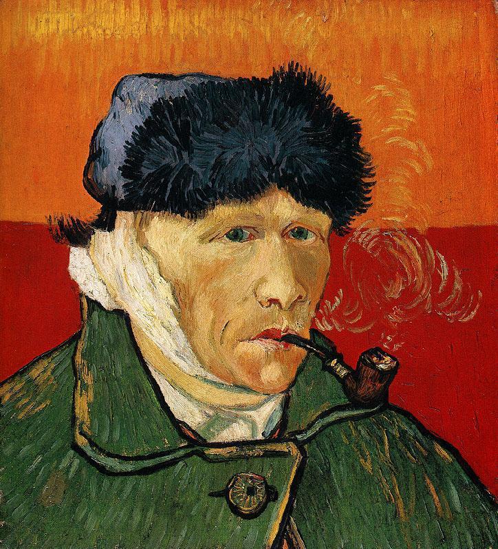 Винсент Ван Гог / «Автопортрет с отрезанным ухом и трубкой» / 1889