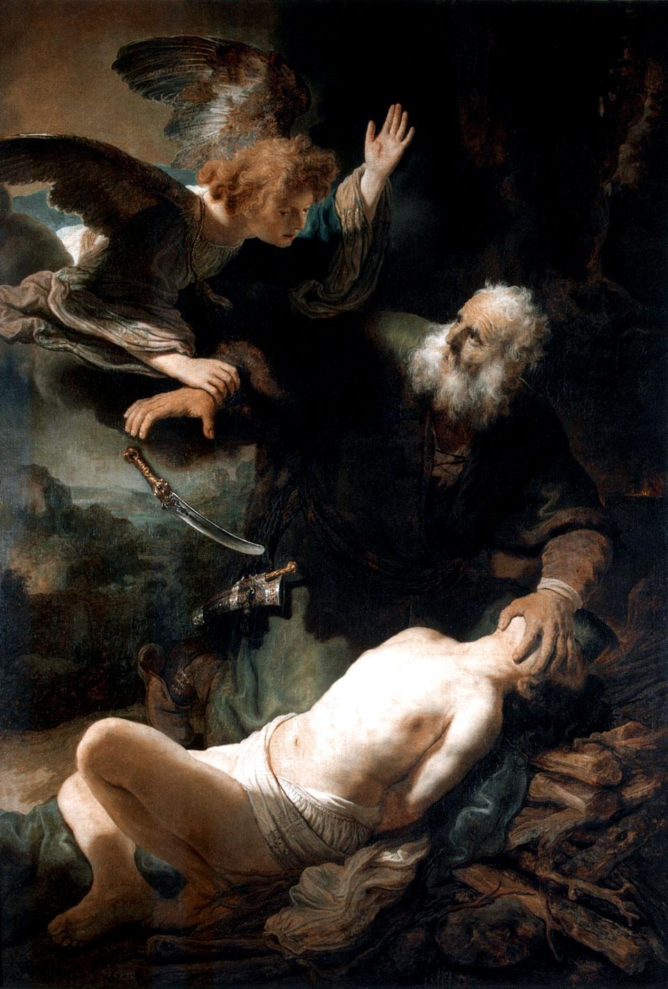 Рембрандт / «Жертвоприношение Авраама» / 1635