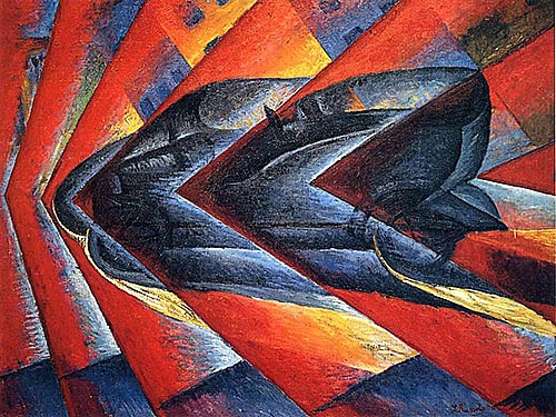 Луиджи Руссоло / «Динамизм автомобиля» / 1913