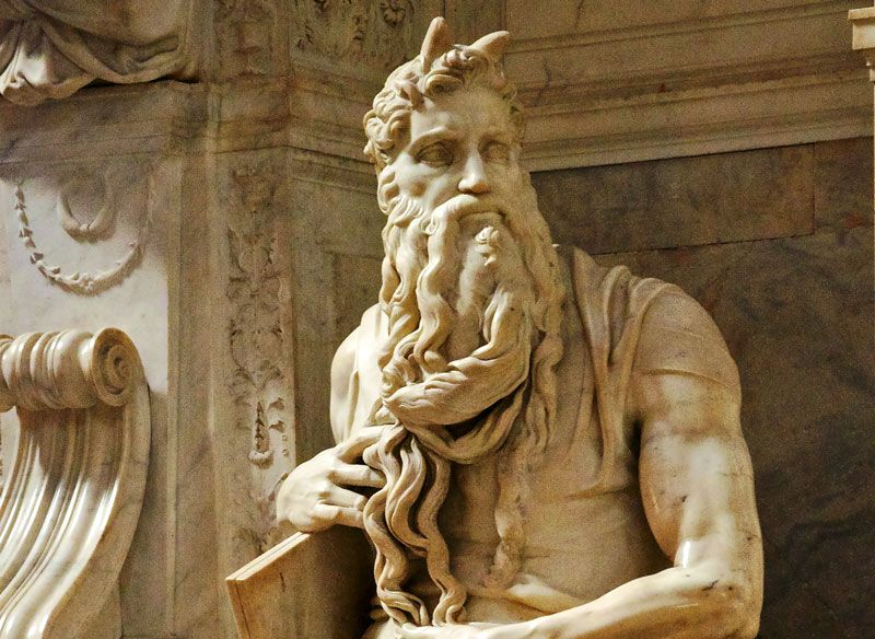 Микеланджело / «Моисей», фрагмент гробницы Юлия II / 1515