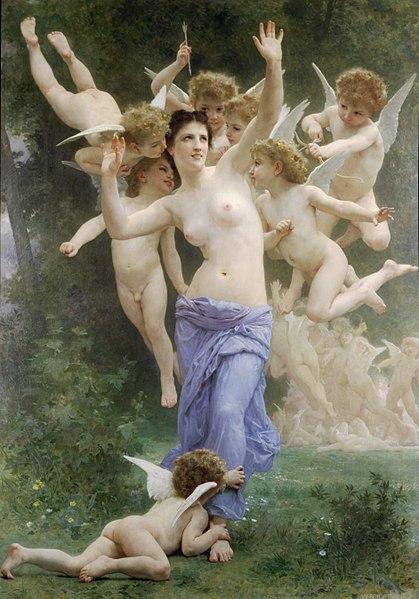 Вильям Адольф Бугро / «Вторжение в царство Купидона (Осиное гнездо)» / 1892