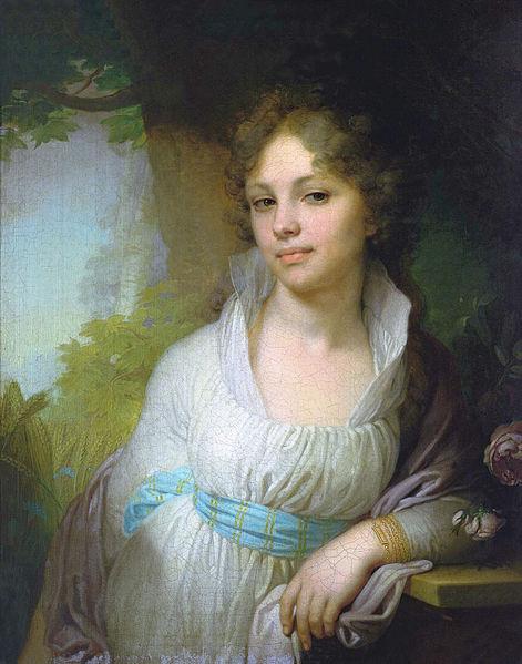 художник Владимир БОРОВИКОВСКИЙ (1757-1825) / «Портрет М.И.Лопухиной»