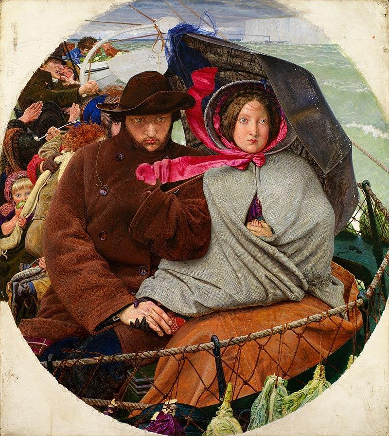 Форд Мэдокс Браун / «Прощание с Англией» / 1855