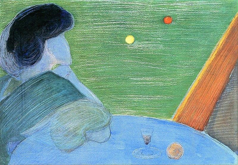художница Марианна ВЕРЁВКИНА (1860-1938) / «Женщина у бильярдного стола»