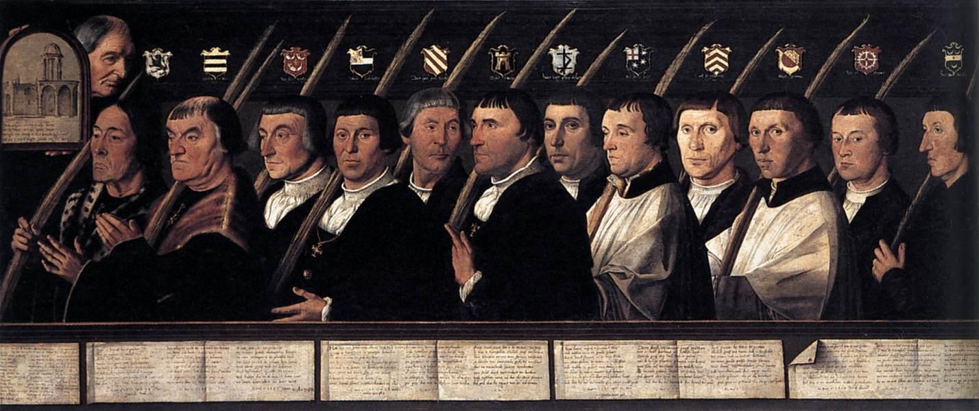 художник Ян ван СКОРЕЛ (1495-1562) / «Групповой портрет членов харлемского Иерусалимского братства»