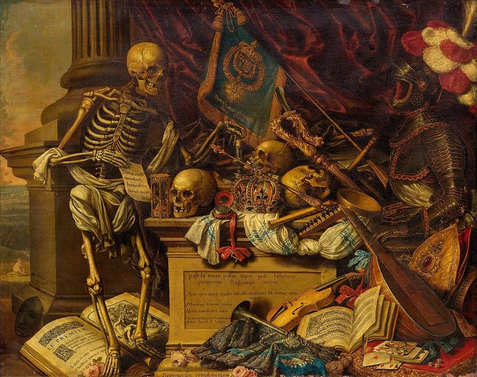 Карстиан Люикс / «Memento Mori» Натюрморт с музыкальными инструментами» / ок.1650