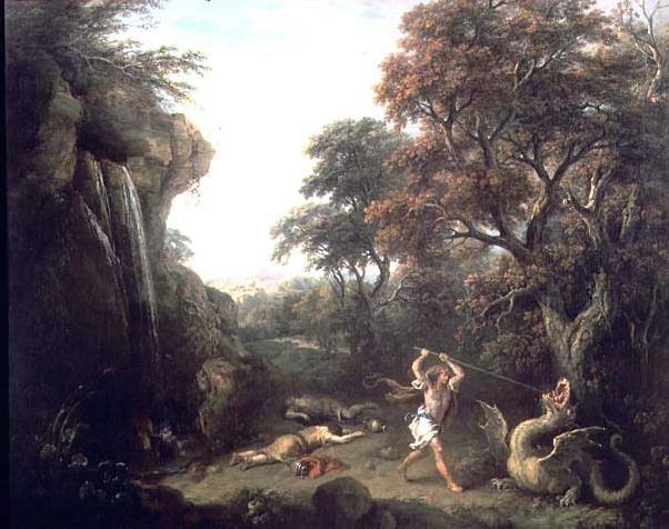 художник Франческо ДЗУККАРЕЛЛИ (1702-1788) / «Кадм, убивающего дракона»