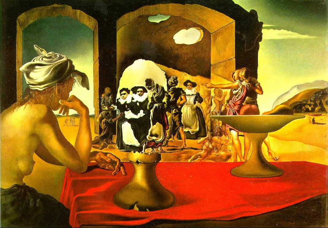 Сальвадор Дали / «Невольничий рынок с явлением незримого бюста Вольтера» / 1940