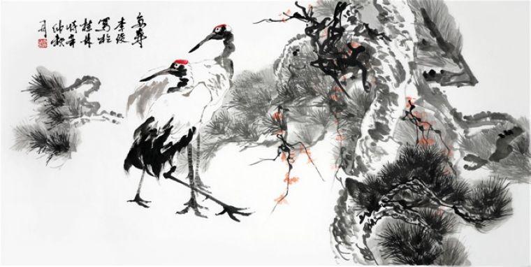 Ли Цзюн / «Журавли в сосновом лесу» / 2002