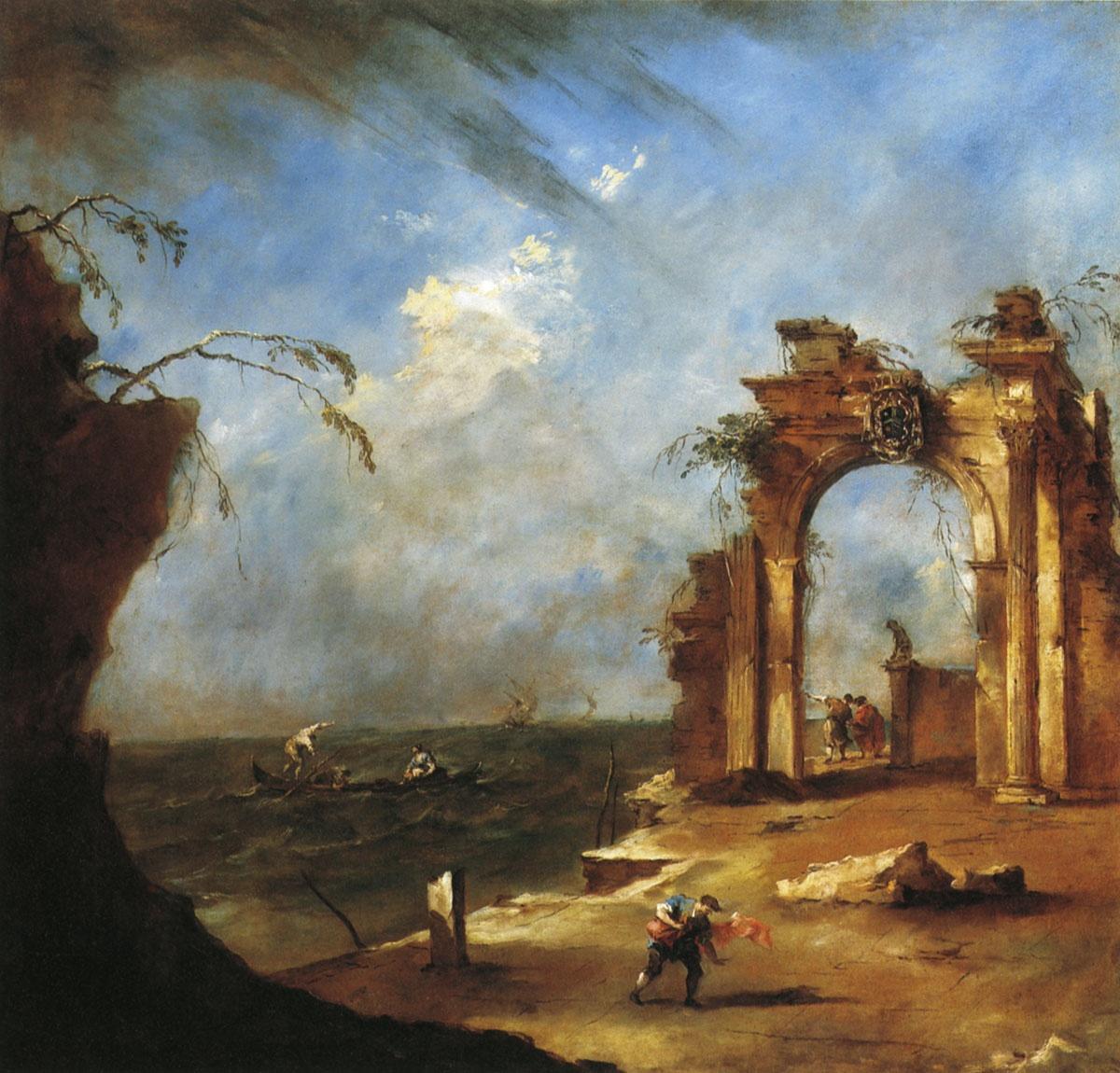 Франческо Гварди / «Каприччио с бурей» / 1778–80