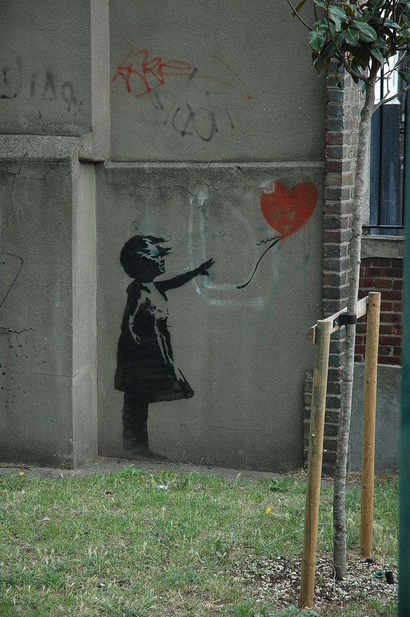Бэнкси / «Девочка с воздушным шаром» / 2002