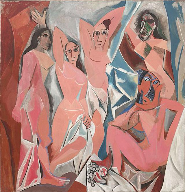 Пабло Пикассо / «Авиньонские девицы», первоначальное название картины - «Философский бордель» / 1907