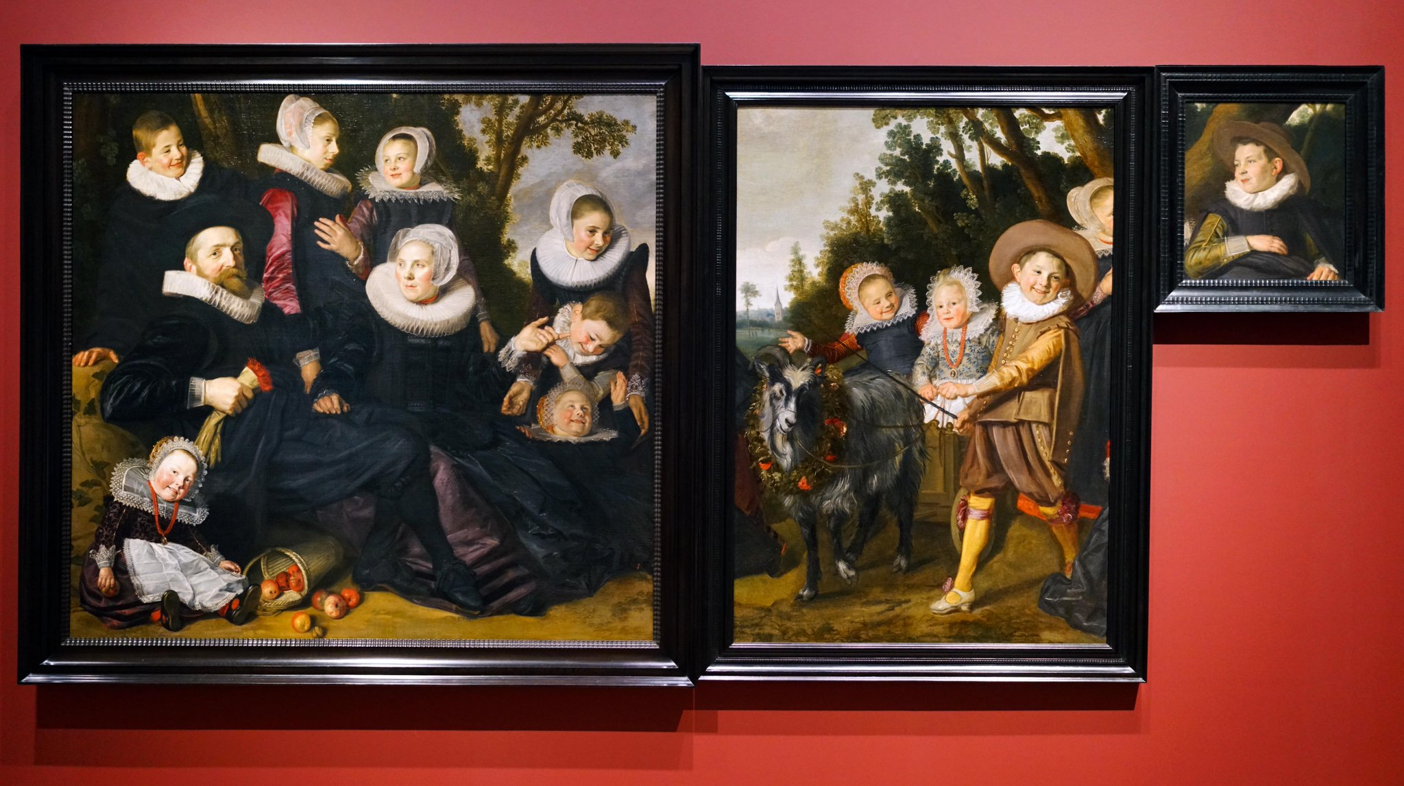 Франс Халс / «Портрет семьи ван Кампен в пейзаже» / интрига в том, что когда-то эти портреты были одной картиной / 1623-25