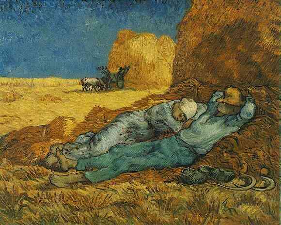 Винсент Ван Гог / «Полуденный отдых от работы», (по картине Жана Франсуа Милле) / 1890