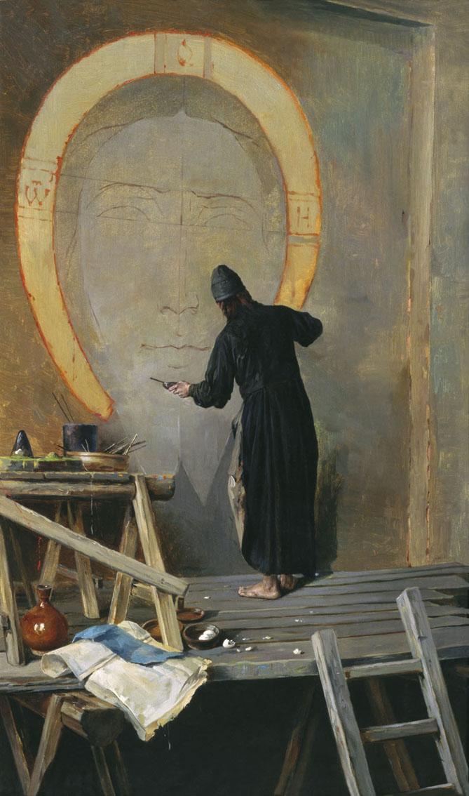 художник Александр ЯНОВ (1857-1918) / «Инок-живописец»