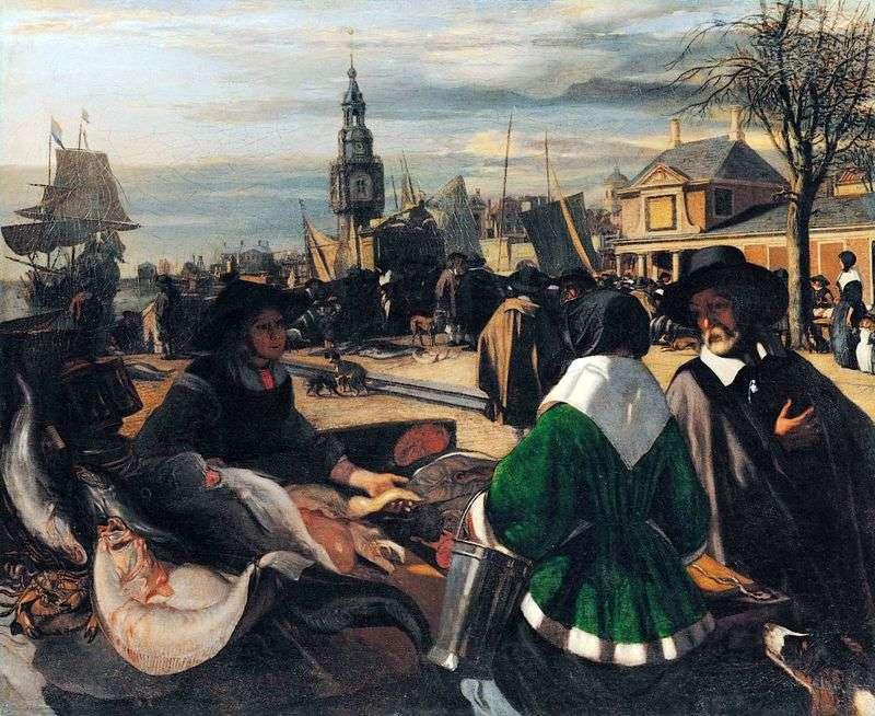 Эмануел де Витте / «Рынок в порту» / кон.1660