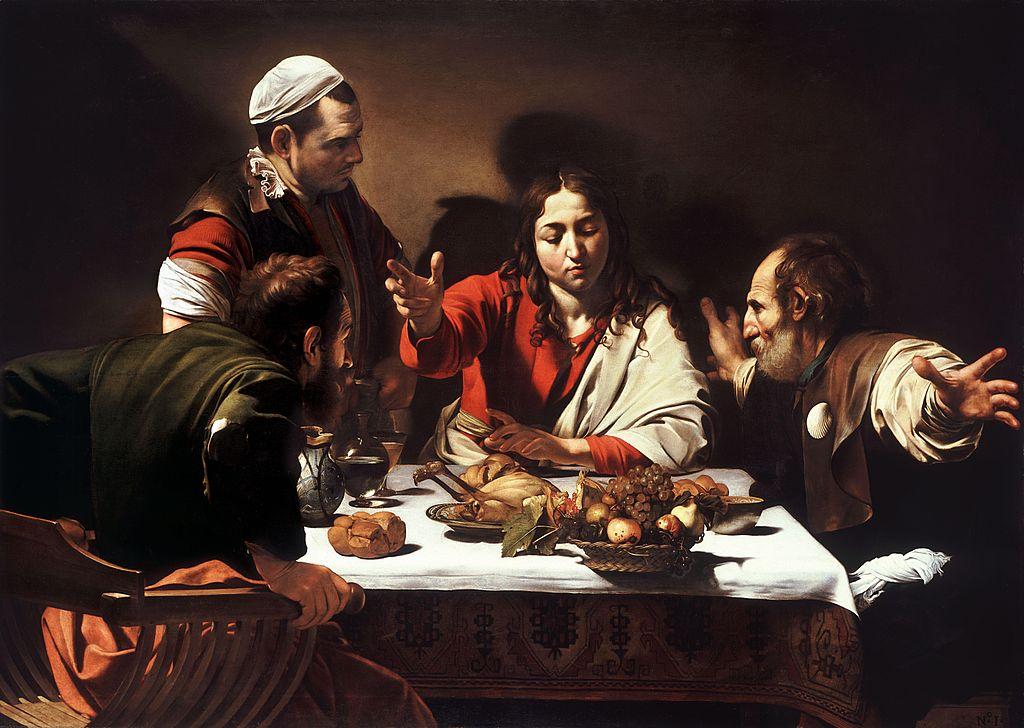 Караваджо / «Ужин в Эммаусе.» / 1601-02
