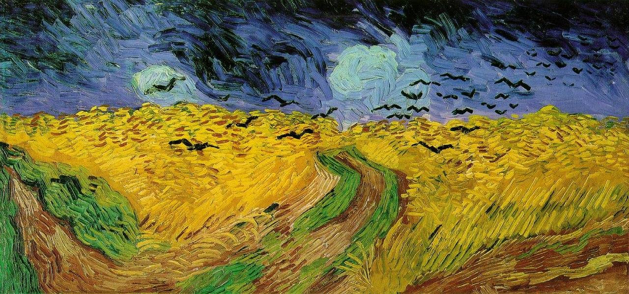 Ван Гог / «Пшеничное поле с воронами» / 1890