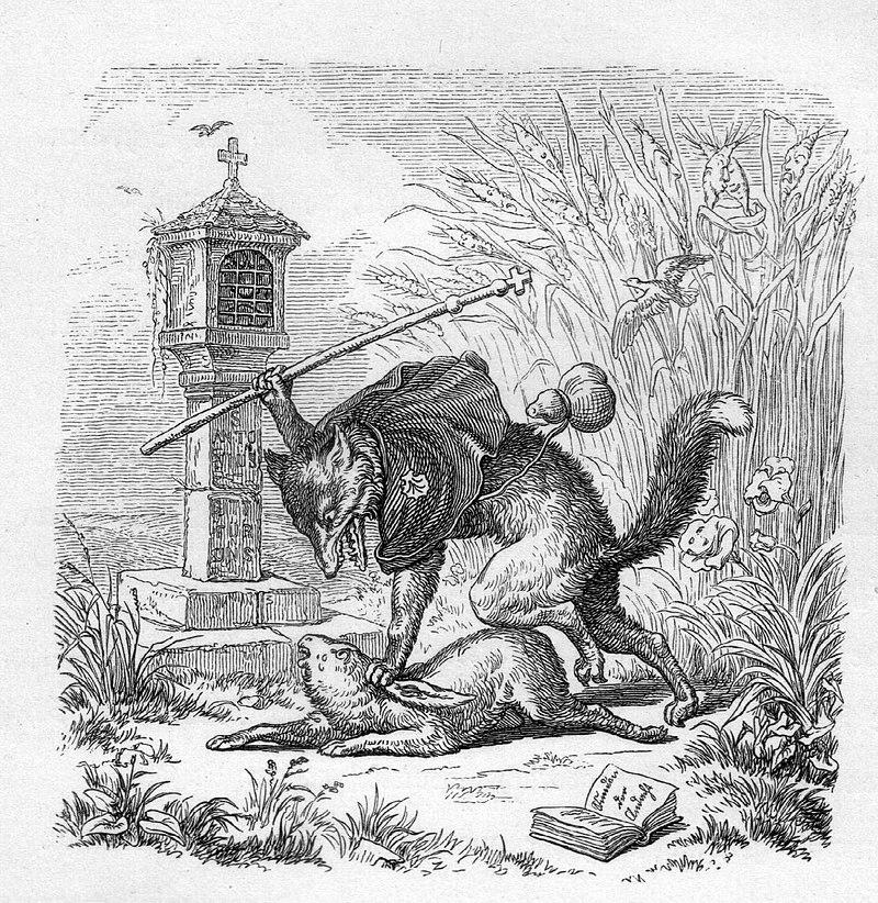 художник Вильгельм фон КАУЛЬБАХ (1895-1874) / «Иллюстрация к изданию «Рейнеке-Лис»