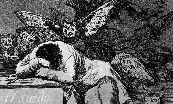 Франсиско Гойя / «Сон разума рождает чудовищ» , (фрагмент) / 1797