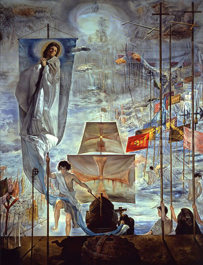Сальвадор Дали / «Открытие Америки усилием сна Христофора Колумба» / 1958-59